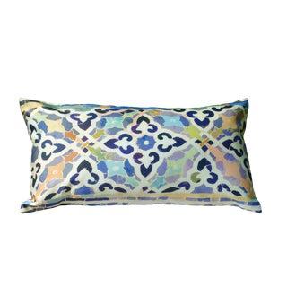 Tile III Silk Pillow