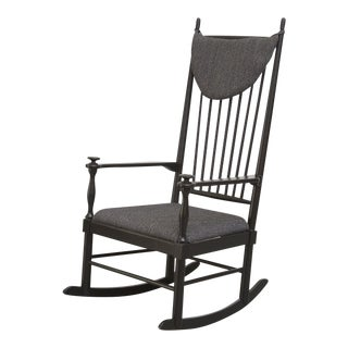 Tapiovaara Style High Back Rocking Chair
