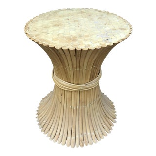 Rattan Sheaf Wheat Dining Table Base