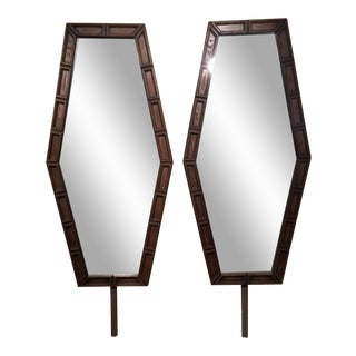 Mid-Century Hexagonal Mirrors - A Pair