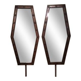 Mid-Century Hexagonal Mirrors - A Pair