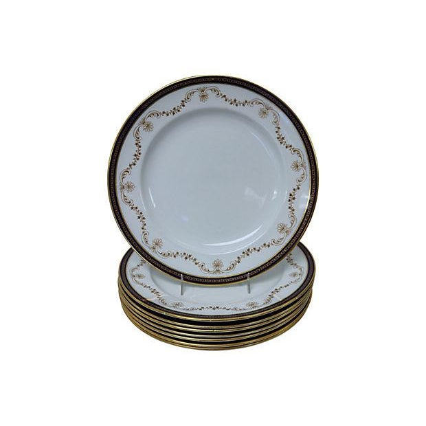 Antique English Cobalt & Gilt Plates - Set of 8 - Image 1 of 3