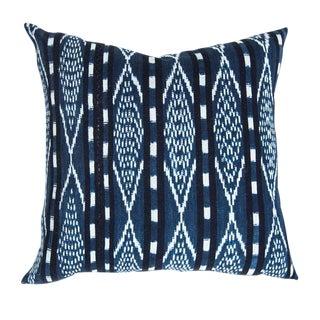 Indigo Ikat Guatemalan Pillow