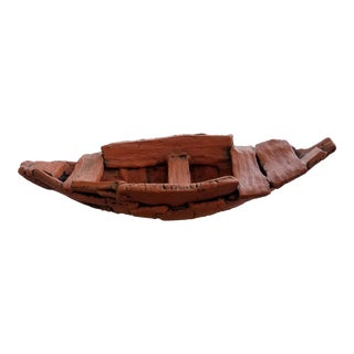 """Handcrafted Terracotta """"Journey Boat"""" by Holden McCurry"""