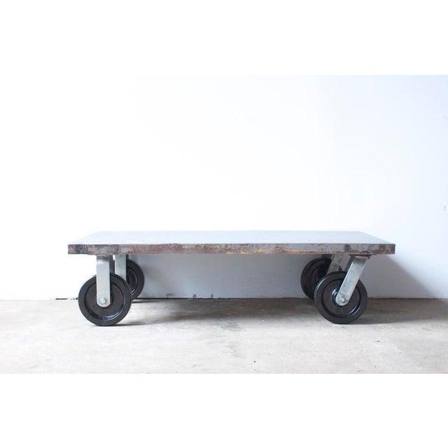 Industrial Metal Coffee Table - Image 2 of 7