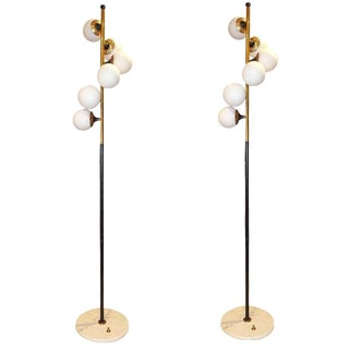 Pair of Mid Century Floor Lamps by Stilnovo, Italy circa 1959
