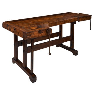 19th Century French Antique 'Ski' Workbench