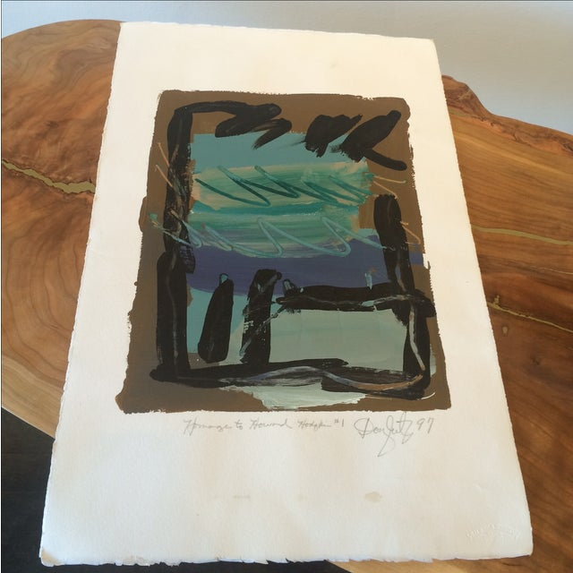 Homage to Howard Hodgkin #1 Painting - Image 3 of 6