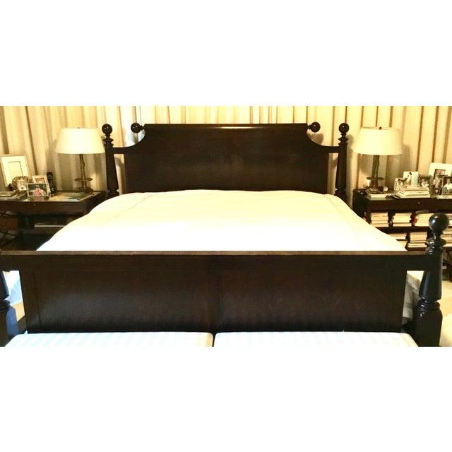 Image of Ebonized Reproduction Canon Ball Bed Frame