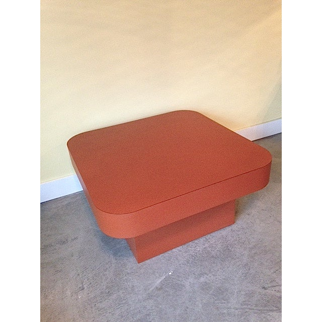 Retro orange coffee table chairish for Orange coffee table