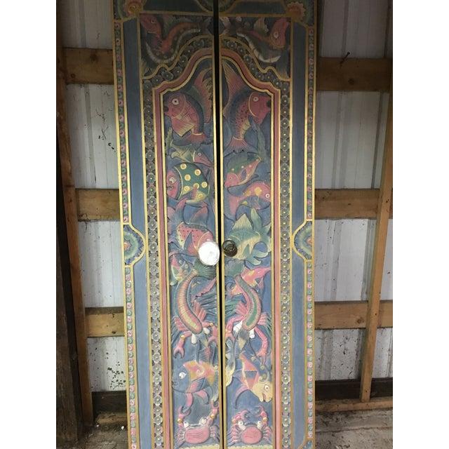 Balinese Hand Carved Sealife Motif Door Panels - Image 3 of 9