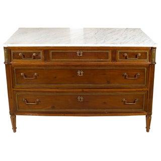 Maison Jansen Marble Top & Mahogany Commode