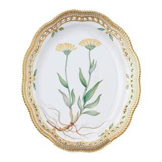 Flora Danica Oval Porcelain Dish by Royal Copenhagen