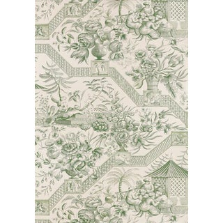 Schumacher Vintage Williamsburg Collection Chinoiserie Toile Wallpaper Double Roll