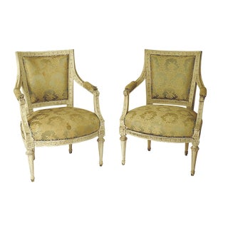 Swedish Painted Armchairs - A Pair