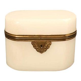 Circa 1900 French Opaline Glass Box