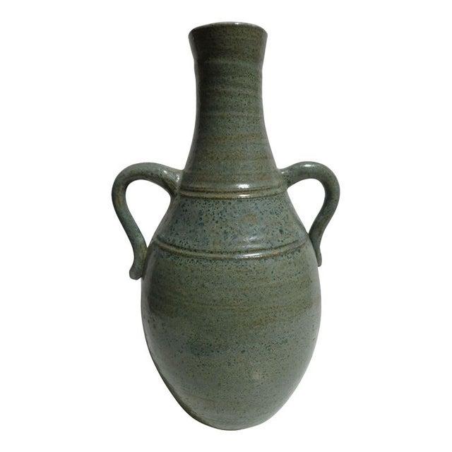 Pastel Blue Stoneware Vase - Image 1 of 2