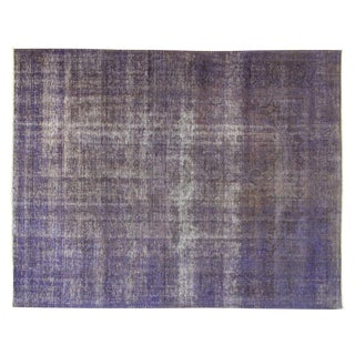 Persian Overdyed Purple Tabriz Rug - 9' x 11'