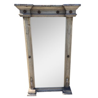 1850 Antique Shabby Chic Venetian Mirror