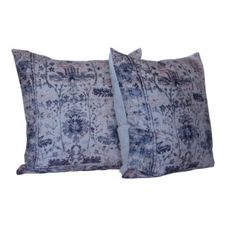 Vintage Turkish Blue Print Pillow Covers - A Pair