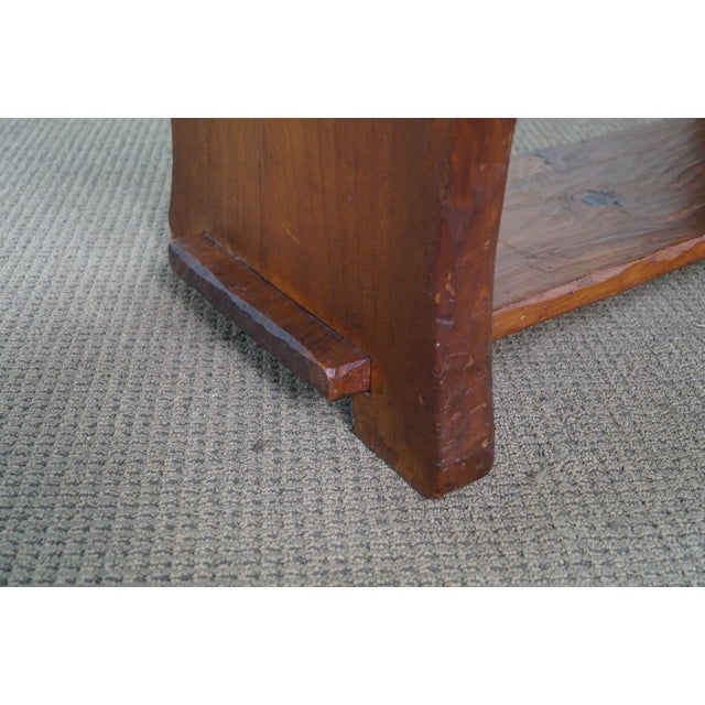 Rustic Slab Wood Coffee Table - Image 5 of 10