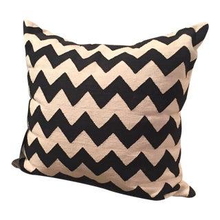 Madeline Weinrib Black & White Zig Zag Amagansett Pillow