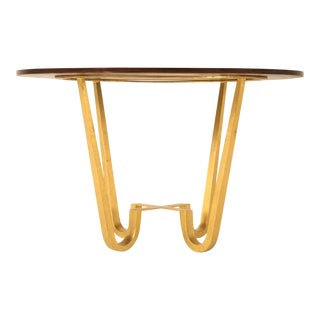 Center Hall or End Table in 24-Karat Gold