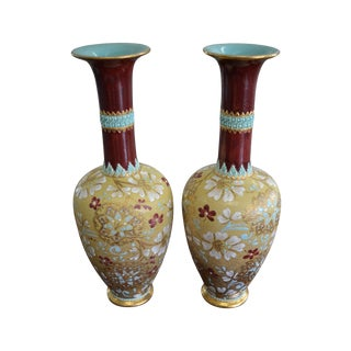 Royal Doulton Slaters Patent Vases - A Pair