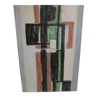 1960 Vintage Large Abstract in Greens by Philip Callahan