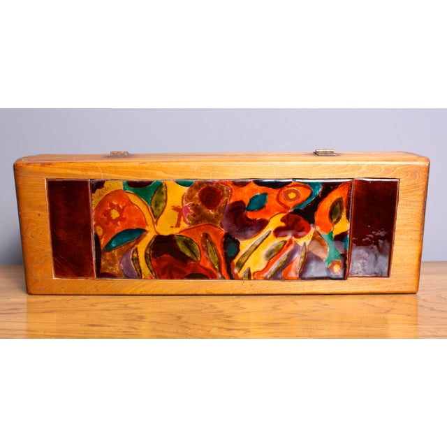Late 1940s Elizabeth Bensley Enamel Wooden Box - Image 3 of 6