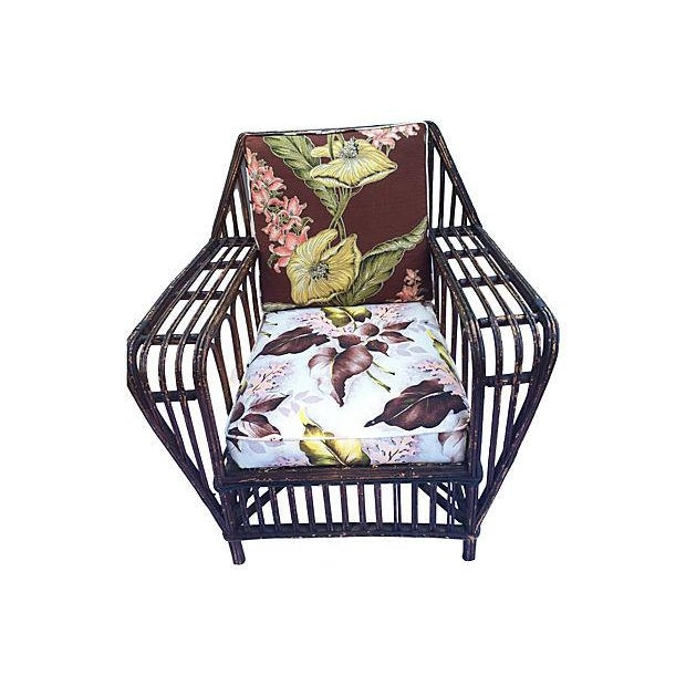 1930s Stick Wicker Deco Sofa & Chairs - Set of 3 - Image 2 of 6