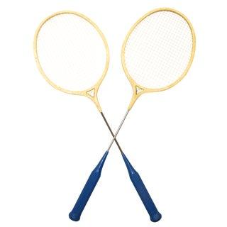 Classic Spalding Comet Badminton Racquets, A Pair