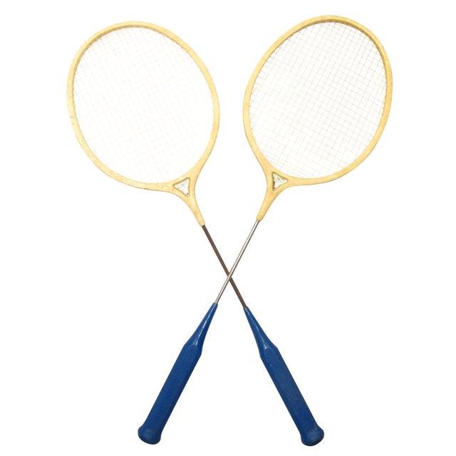 Classic Spalding Comet Badminton Racquets, A Pair - Image 1 of 3