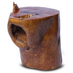 Image of Natural Wood Form Tree Trunk Side Table
