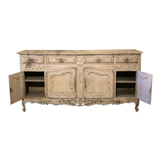 Early 20th Century French Louis XV Carved Painted Buffet
