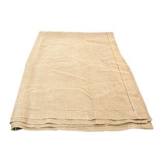 Linen Tablecloth in Beige