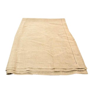 Linen Tablecloth in Beige
