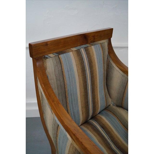 Antique Italian Walnut Klismos Arm Chairs - Pair - Image 6 of 9