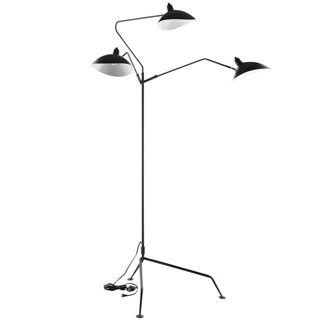 Serge Mouille Replica Black Steel Floor Lamp - Image 4 of 5