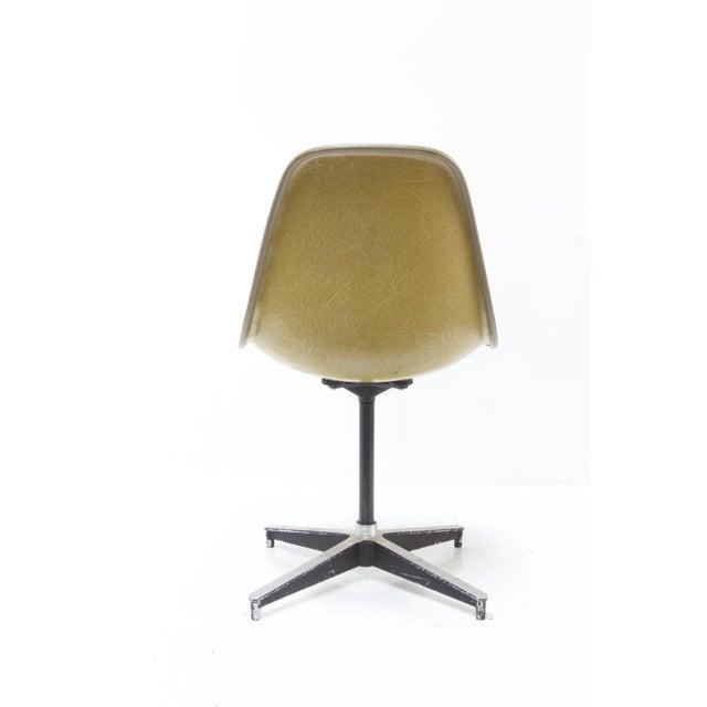 Herman Miller Fiberglass Side Chair Yellow Hopsack Chairish
