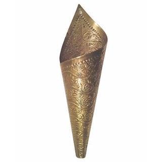 Brass Cone Wall Pocket Vase