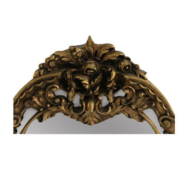 Image of Gilded Carved Floral Wall Mirror
