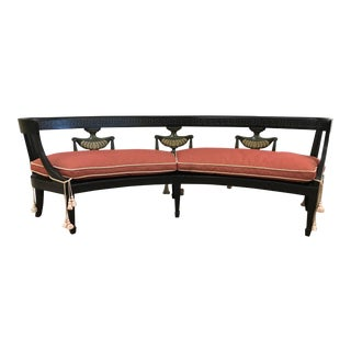 Louis XIV Style Curved Bench