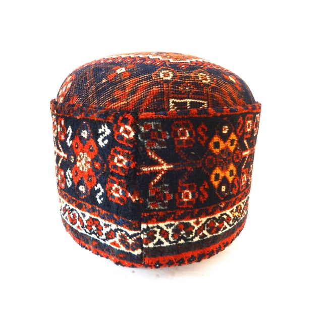 Antique Tribal Qashqa'i Upholstered Ottoman - Image 3 of 6