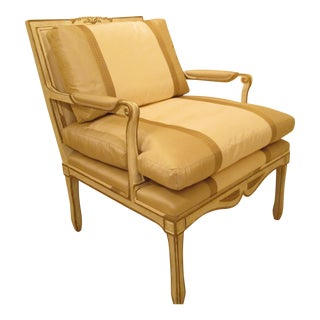 Taupe Silk Cressant Chair