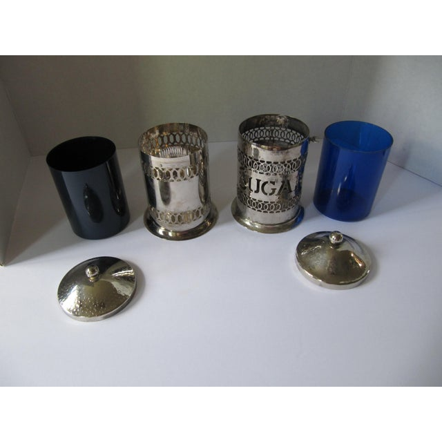 Vintage Silver-Plate Canisters- A Pair - Image 5 of 9