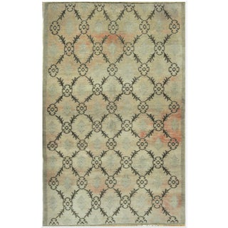 Vintage Hand-Knotted Oriental Rug - 5′ × 8′