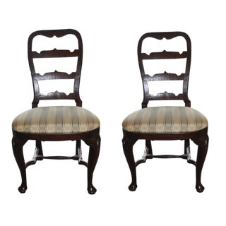 19th C. Mahogany Side Chairs - A Pair