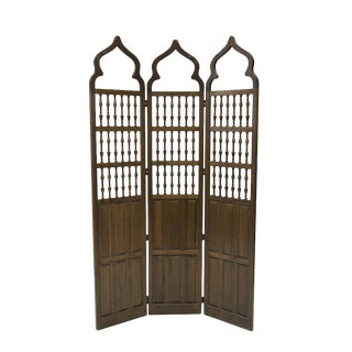 Moroccan Style Carved Room Dividers - A Pair