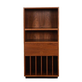Danish Modern Compact Bar / Vinyl Album Storage Cabinet